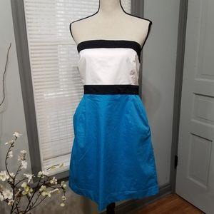 New York & Company Strapless Pocket Mini Dress